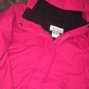 Columbia interchange pink woman's coat